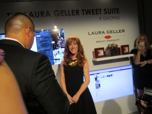 Kathy Griffin at QVC's Tweet Deck