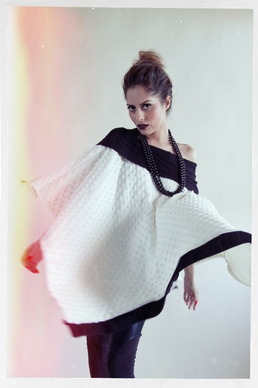 Eleganza Poncho from VDE, $55.