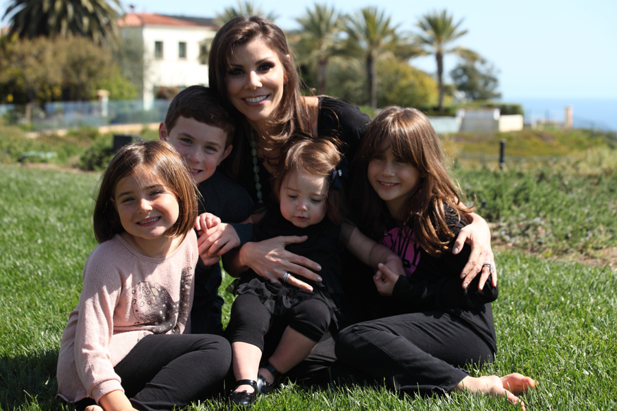 Heather Dubrow with her children