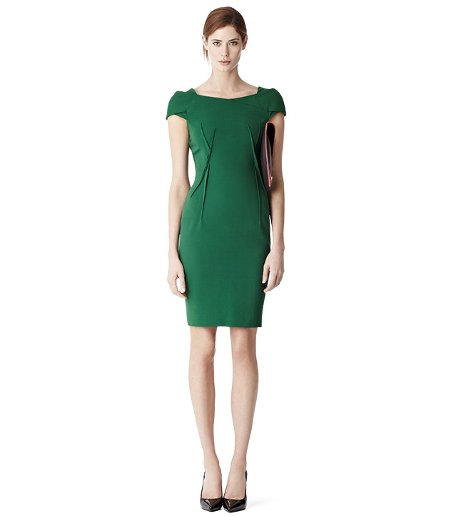 Reiss Venna Emerald Green Dress