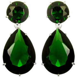 Angelina-inspired faux emerald earrings