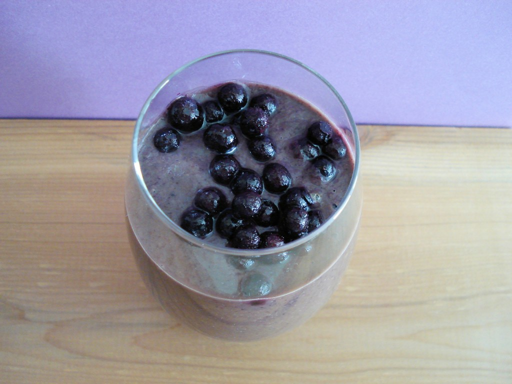 Wild Blueberry Avocado Smoothis from Sherry Alexancer